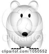 Royalty Free RF Clip Art Illustration Of A Polar Bear Facing Front