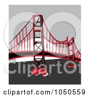 The Golden Gate Bridge San Francisco In Red And Black