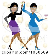 Funky Black Women Dancing With Cocktails