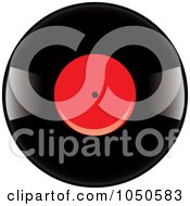 Royalty Free RF Clip Art Illustration Of A Black And Red Vinyl Record Album 2 by Pams Clipart