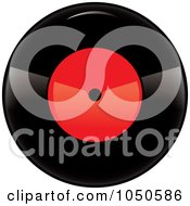 Royalty Free RF Clip Art Illustration Of A Black And Red Vinyl Record Album 1 by Pams Clipart