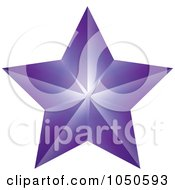Purple Faceted Star