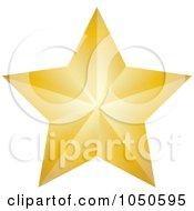 Golden Faceted Star