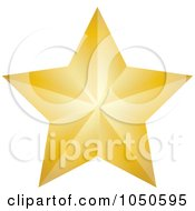Golden Faceted Star