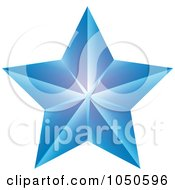 Blue Faceted Star