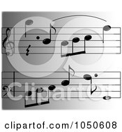 Background Of Sheet Music On Gray
