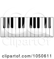 Royalty Free RF Clip Art Illustration Of Piano Keys