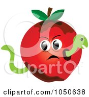 Royalty Free RF Clip Art Illustration Of A Worm In A Bad Apple