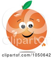 Royalty Free RF Clip Art Illustration Of A Juicy Orange Character