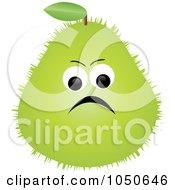 Royalty Free RF Clip Art Illustration Of A Grumpy Prickly Pear