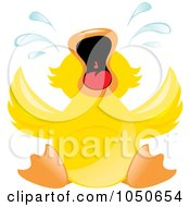 Royalty Free RF Clip Art Illustration Of A Duckling Throwing A Temper Tantrum