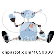 Valentine Robot Sitting And Waving