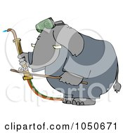 Royalty Free RF Clip Art Illustration Of A Welding Elephant by djart
