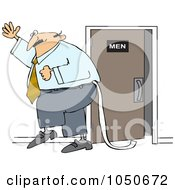 Businessman Dragging Toilet Paper Behind Him