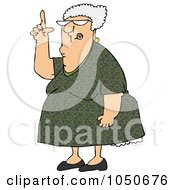 Royalty Free RF Clip Art Illustration Of A Senior Woman Pointing Up