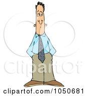 Royalty Free RF Clip Art Illustration Of A Businessman Keeping On Eye Open