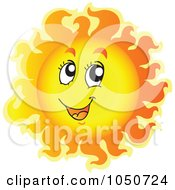 Royalty Free RF Clip Art Illustration Of A Sun Character Smiling