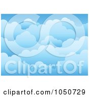 Royalty Free RF Clip Art Illustration Of A Background Of Cloudy Skies