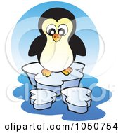 Royalty Free RF Clip Art Illustration Of A Penguin Logo by visekart