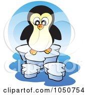 Royalty Free RF Clip Art Illustration Of A Penguin Logo