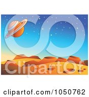 Royalty Free RF Clip Art Illustration Of A Foreign Planet Landscape Background by visekart