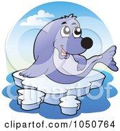 Royalty Free RF Clip Art Illustration Of A Seal Logo