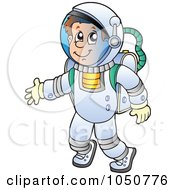 Royalty Free RF Clip Art Illustration Of A Floating Astronaut by visekart
