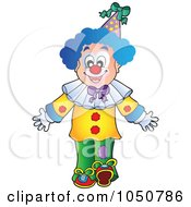 Royalty-Free (RF) Clip Art Illustration of a Clown Walking by visekart