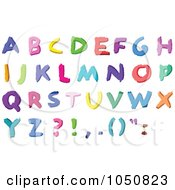 Royalty Free RF Clip Art Illustration Of A Digital Collage Of Colorful Abc Alphabet Letters In Capital