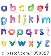 Royalty Free RF Clip Art Illustration Of A Digital Collage Of Colorful Abc Alphabet Letters In Lowercase