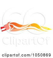 Royalty Free RF Clip Art Illustration Of A Fast Flaming Dragon Logo