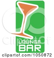 Royalty Free RF Clip Art Illustration Of A Green White And Orange Lounge Bar Icon
