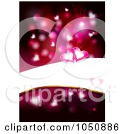 Royalty Free RF Clip Art Illustration Of A Background Of Hearts And A Bright Bar For Copyspace