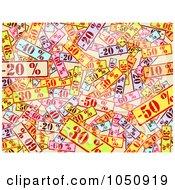 Royalty Free RF Clip Art Illustration Of A Background Of Colorful Sale Signs