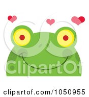 Smiling Frog Face With Hearts