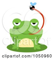 Royalty Free Vector Clip Art Illustration Of A Frog Catching A Fly