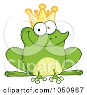 Royalty Free Vector Clip Art Illustration Of A Frog Prince by Hit Toon