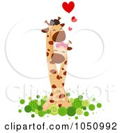 Royalty Free Vector Clip Art Illustration Of A Giraffe Couple 2 by BNP Design Studio