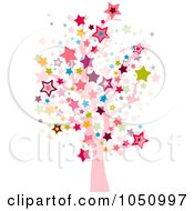 Royalty Free Vector Clip Art Illustration Of A Starry Tree