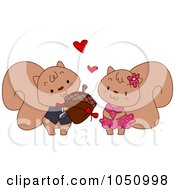 Royalty Free Vector Clip Art Illustration Of A Squirrel Giving An Acorn To His Valentine by BNP Design Studio