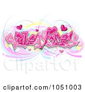 Royalty Free Vector Clip Art Illustration Of Valentines Graffiti Text