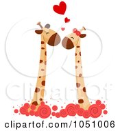 Royalty Free Vector Clip Art Illustration Of A Giraffe Couple 3