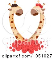 Royalty Free Vector Clip Art Illustration Of A Giraffe Couple 1