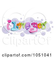 Royalty Free Vector Clip Art Illustration Of I Love You Graffiti Text Over Bubbles