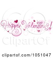 Royalty Free Vector Clip Art Illustration Of Happy Valentines Text Over Bubbles