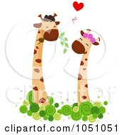 Royalty Free Vector Clip Art Illustration Of A Giraffe Couple 5
