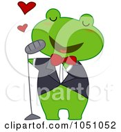 Royalty Free Vector Clip Art Illustration Of A Frog Singing Love Songs
