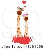 Royalty Free Vector Clip Art Illustration Of A Giraffe Couple 4