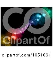 Royalty Free Vector Clip Art Illustration Of A Background Of Colorful Glowing Bubbles On Black 1