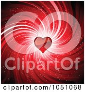 Royalty Free Vector Clip Art Illustration Of A Red Swirl And Heart Valentine Background